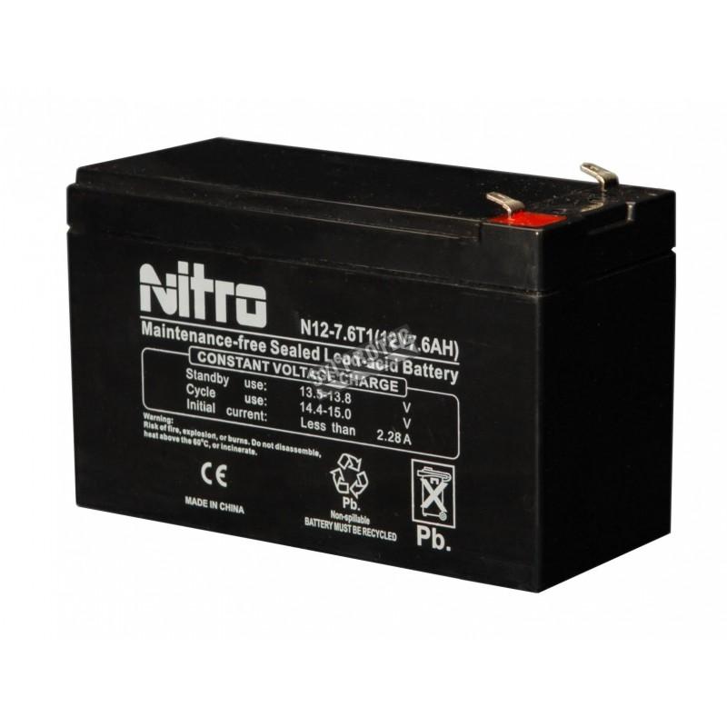Battery 12 V 7 Ah 84 W for emergency lighting unit