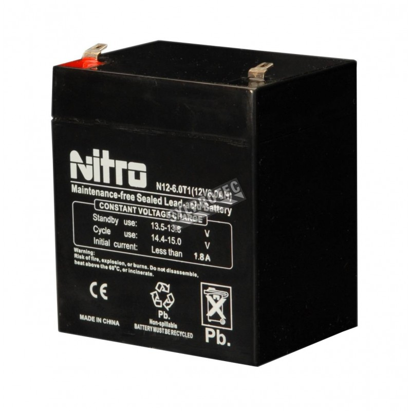 Emergency light unit battery 12 volts 5 amperes