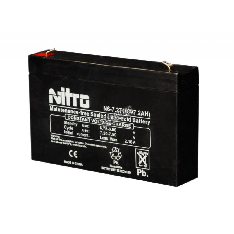 Batterie 6 V 7 Ah 42 W pour unité d'éclairage d'urgence