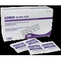 Benzalkonium chloride antiseptic pads, 0,13%,100/box.