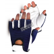 Gants antivibration sans doigts Vibrastop, en cuir de chèvre & nylon avec poignets ajustables rembourrés. Vendus à la paire.