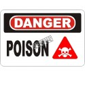 """French OSHA """"Danger Poison"""" sign in various sizes, materials, languages & optional features"""