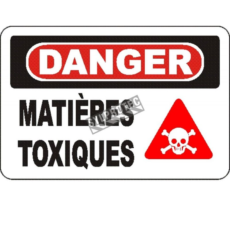 """French OSHA """"Danger Toxic Chemicals"""" sign in various sizes, materials, languages & optional features"""