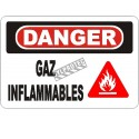 """French OSHA """"Danger Flammable Gas"""" sign in various sizes, materials, languages & optional features"""