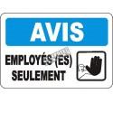Affiche OSHA «Avis Employé(es) seulement» en français: langues, options, formats & matériaux variés