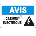 """French OSHA """"Notice Electrical Panel"""" sign in various sizes, materials, languages & optional features"""
