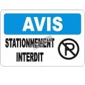 Affiche OSHA «Avis Stationnement interdit» en français: langues, option, formats & matériaux variés