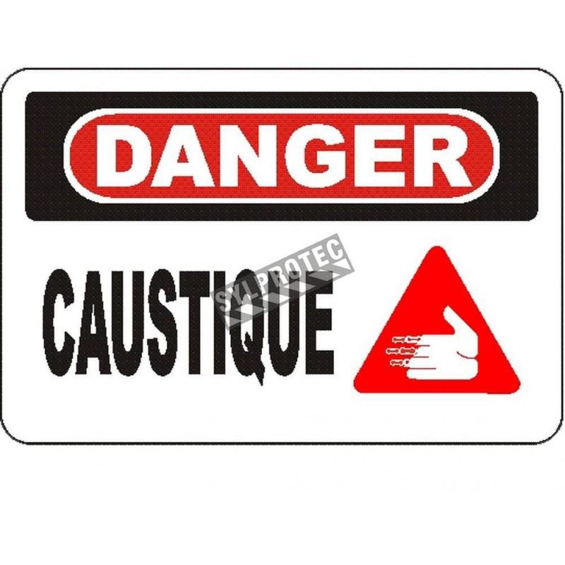 Affiche OSHA «Danger Caustique» en français: langues, options, formats & matériaux variés
