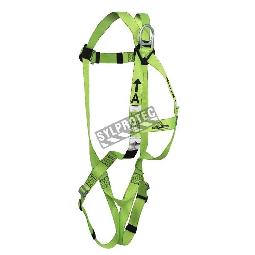 Peakwors compliance polyester safety harness, class A, one D-ring and pass-thru buckles , one size fit all..
