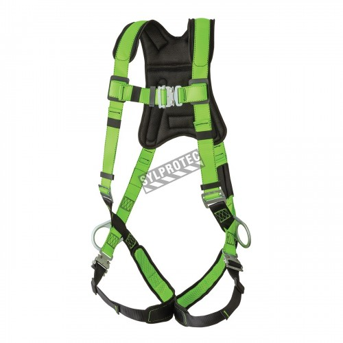 Miller AirCore™ CSA class A, P, full body harness equipped with 1 stand-up back D-Ring, Quick-Connect buckles & positioning belt
