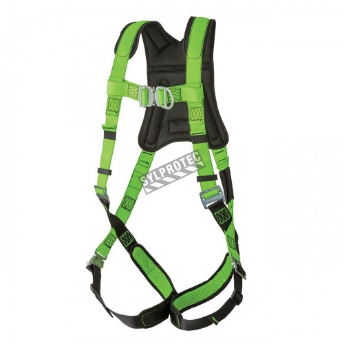 North crossover safety harness, 1 back and 1 front D-rings, mating buckles. CSA groups A & L.