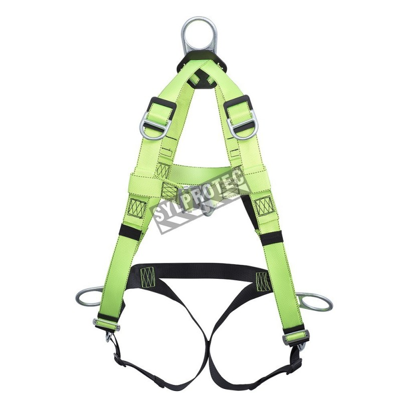 North harness for ladder, controlled descent and confined space, extendable back D-ring. CSA groups A, P, D, L, E.