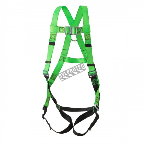 Peakworks safety harness, 1 back and 1 front D-rings, mating buckles. CSA groups A & L.