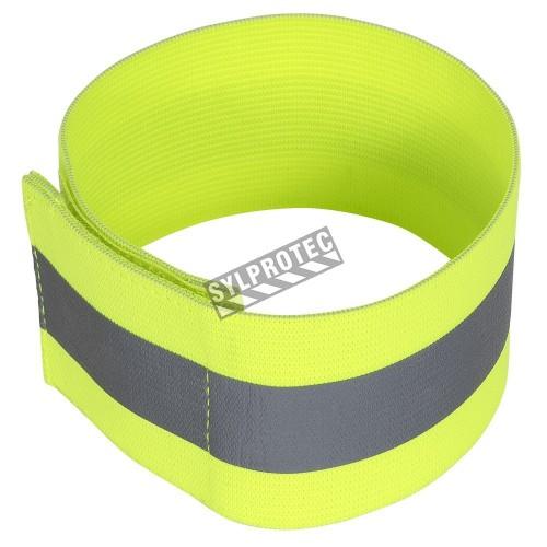 High visibility elastic armband 5 cm X 33 cm., pair