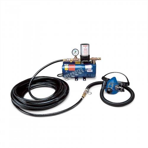Ensemble de protection respiratoire pour 1 personne avec demi-masque et pompe à air ambiant & 50 pi de marque Allegro.