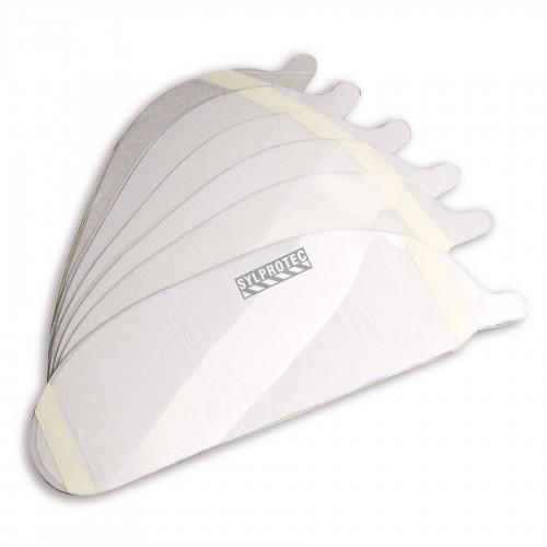 Pellicule amovible autocollante de couleur claire pour la visière d'un respirateur plein visage Allegro no RA9901.