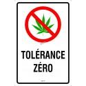 Affiche tolérance zéro pour le cannabis