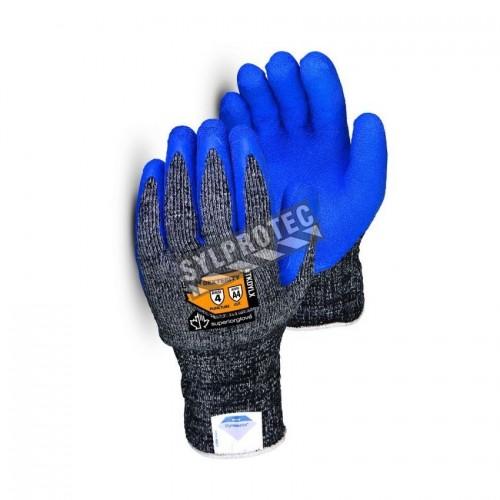 Gant d'hiver anti-coupure niveau A4 fait de Dyneema® avec fibre composite enduit de latex, muni d'une isolation en nylon.