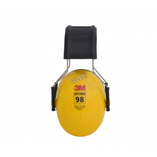 Coquille antibruit 3M model H9A, couleur jaune, 25 dB, Optime 98