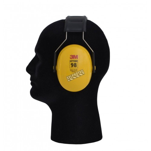 Coquille antibruit 3M model H9A, couleur jaune, 25 dB, Optime 98