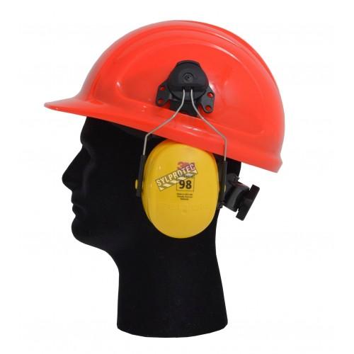 Earmuff PELTOR (3M) cap attached, average attenuation 23 dB, Optime 98.