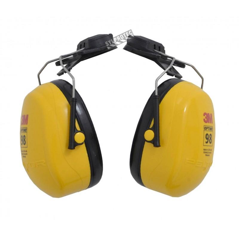Coquille antibruit 3M pour casque de sécurité, 23 dB, Optime 98.