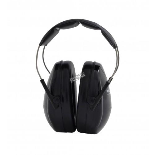 Coquille antibruit Junior, noire, pour enfants. Réduit le bruit de 22 dB.
