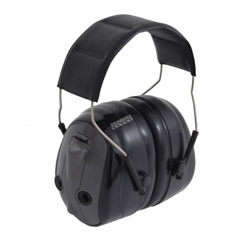 Earmuff PELTOR who allows wearer to hear ambient noise