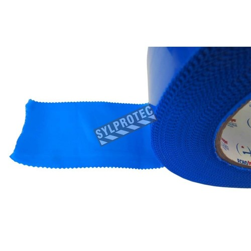 """Blue polyethylene adhesive strip, ideal for tight sealing a containment area of decontamination. Thickness: 7 mils, 2""""x180'."""