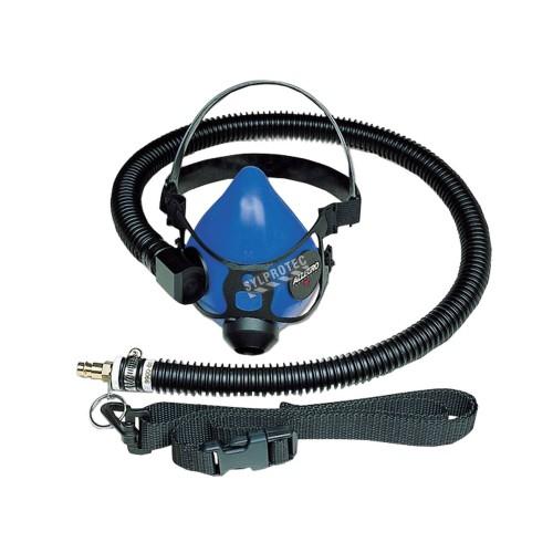 Ensemble incluant un respirateur demi-masque, un boyau d'alimentation flexible et une ceinture en nylon, no 9920.