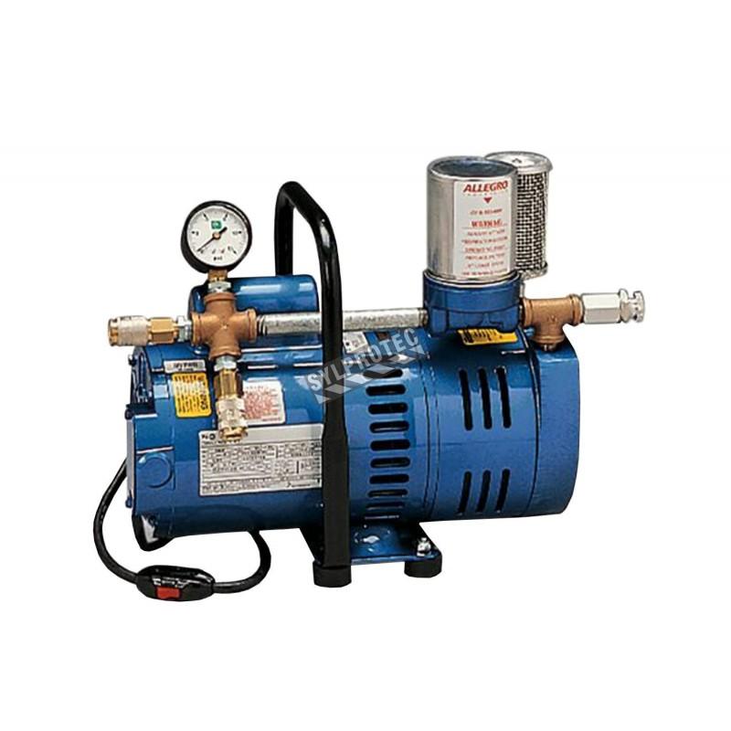 Pompe d'air ambiant de 3/4 CV, pour respirateur à adduction d'air en basse pression d'Allegro, no 9821.