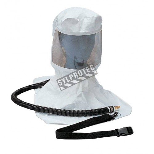 Full kit, tyvek hood, harness, tube and belt for supply air.