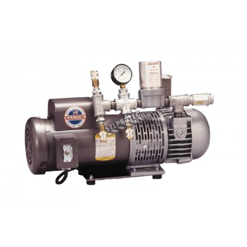 1 1/2 HP ambient air pump for Allegro low pressure air supply respirator system up to three workers.