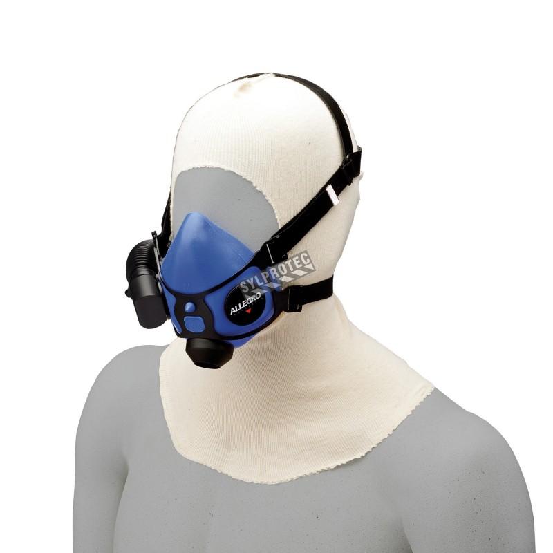 Cagoule en coton à enfiler, avec ouverture faciale élastique, pq/ 12 unités