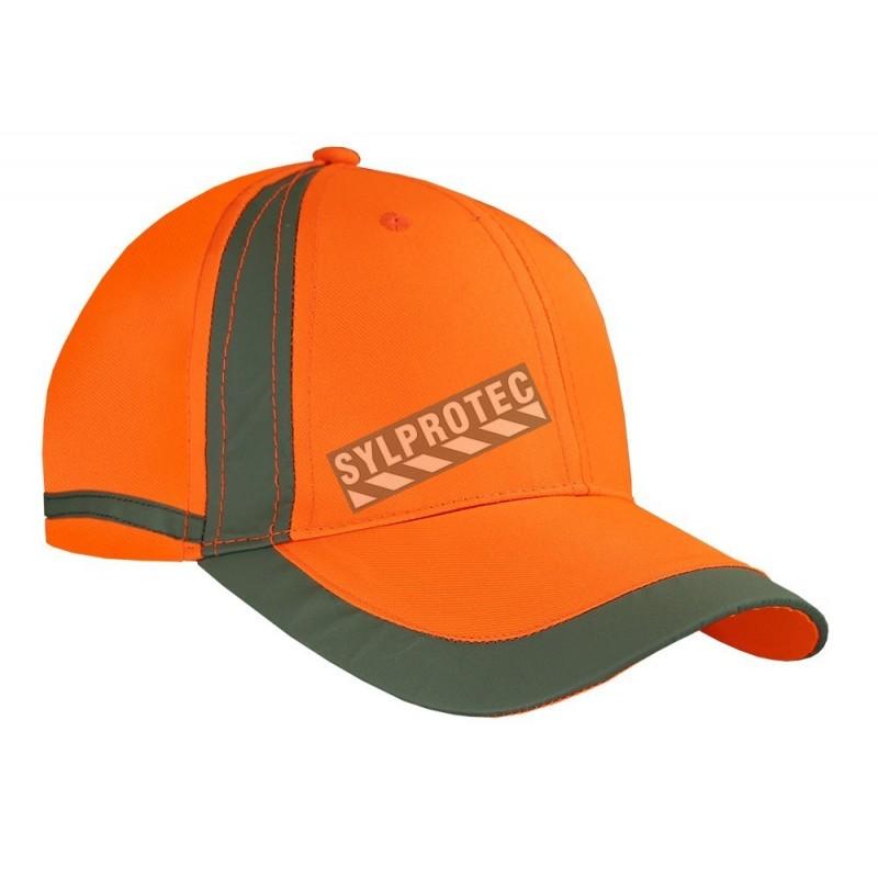 Casquette haute visibilité orange 100 % polyestère