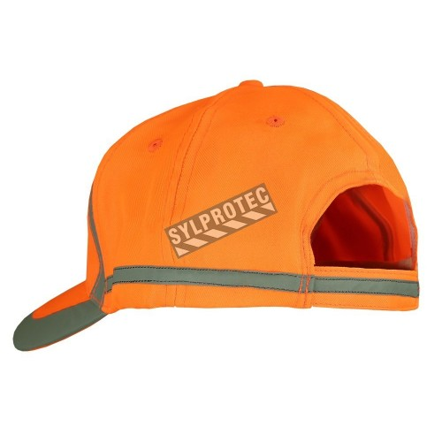 High visibility orange cap 100% polyester