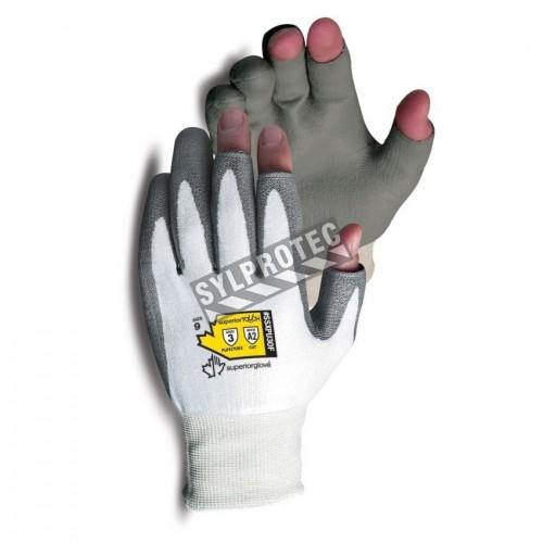 Gant anti-coupure niveau A2 Dexterity® avec 3 doigts ouverts enduit de polyuréthane