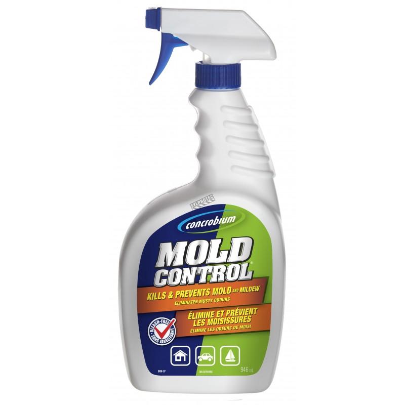 Désinfectant Concrobium au thym synthétique pour la décontamination des moisissures. 1 gal US/bouteille.
