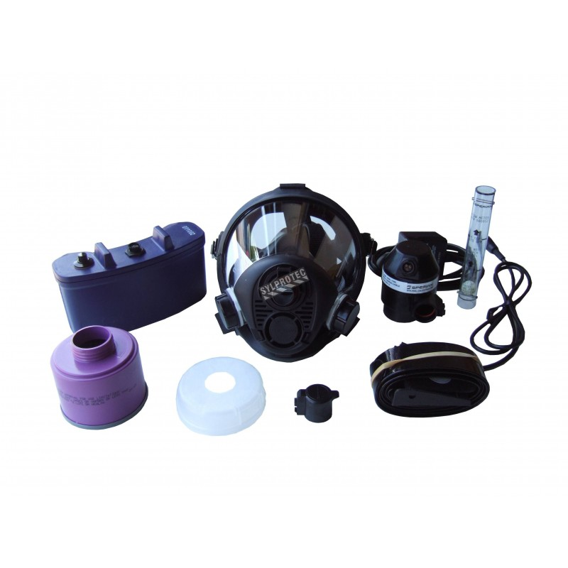 Survivair face-mounted powered air purifying respirator assembly. Ideal for abatement and decontamination. Large.