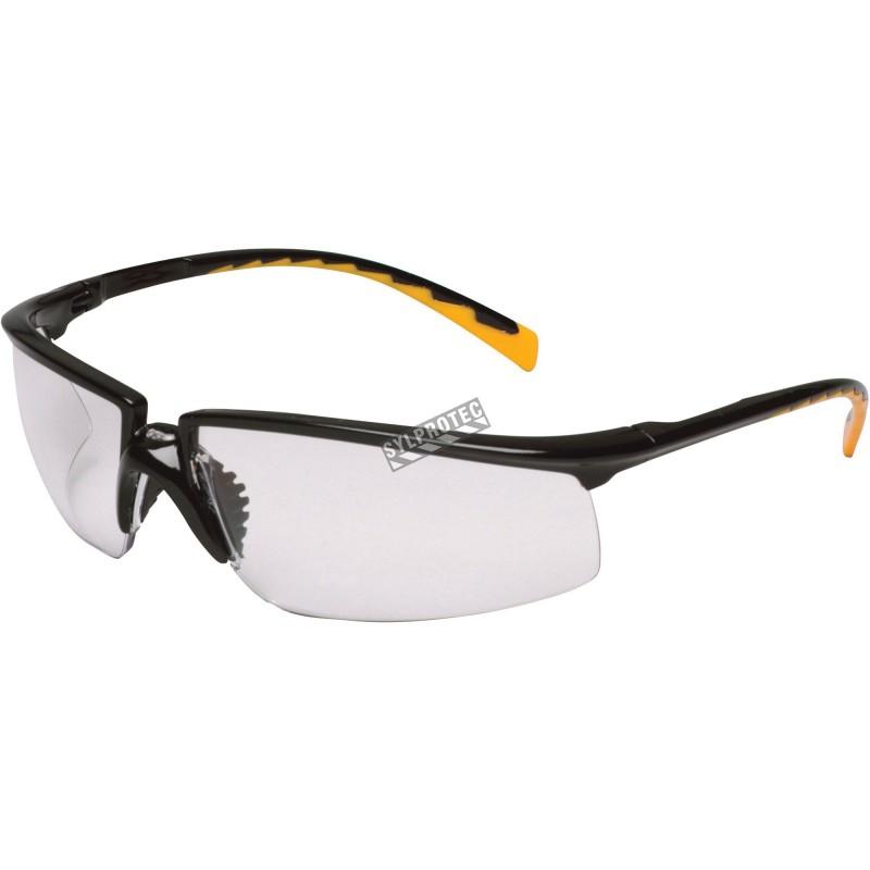 Lunette de sécurité Privo pour protection oculaire par 3M. Lentille de polycarbonate miroir & revêtement antibuée. Homologué CSA