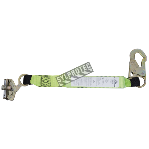 E6 automatic rope grab with panic lock, 2ft. lanyard