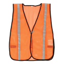 Economical  orange safety vest, one size.