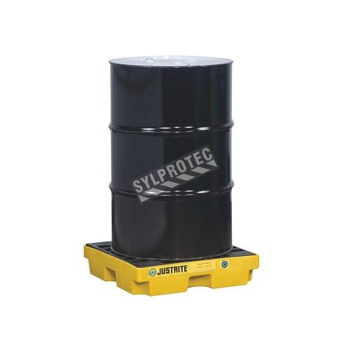 Plateforme de rétention pour contrôle des déversements, pour 1 baril, capacité 12 gallons US (45,5 litres).