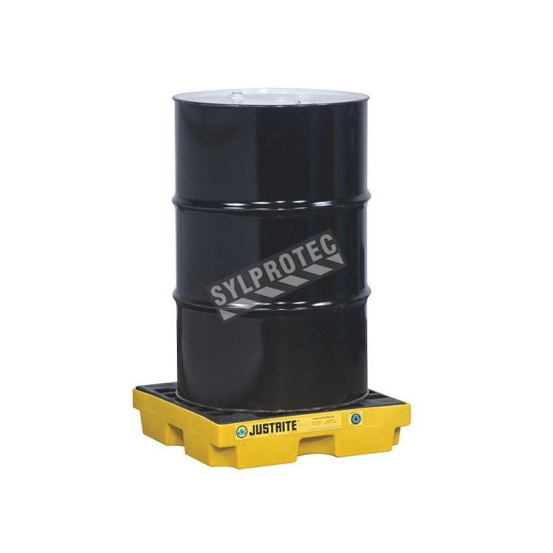 Drum accumulation center for spill control, fits 1 drum, capacity 12 US gallons (45.5 liters).