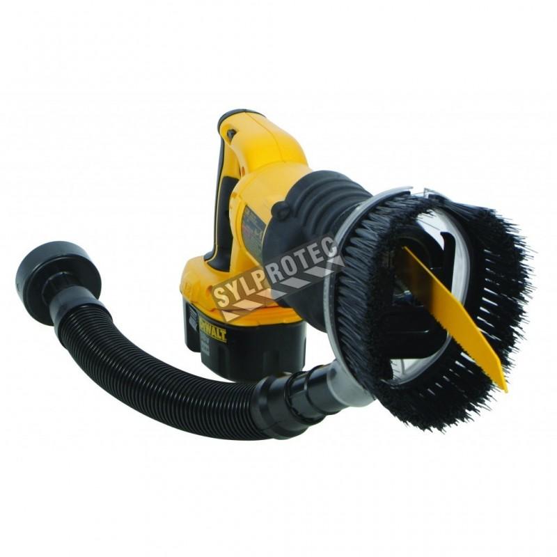Capteur de poussière universel pour perceuse (diamètre de 2,5 cm). Idéal pour la décontamination et l'échantillonnage.
