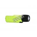 Lampe de poche anti-explosion UK4AA-eLed, avec ampoule led et interrupteur frontal, boîtier jaune.