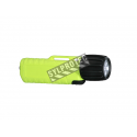 UK4AA-eLed certified anti-explosion front switch flashlight with Led bulb. Yellow casing.