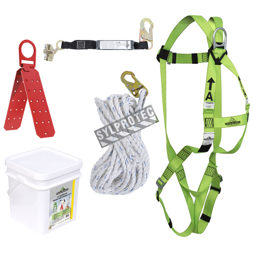 Peakworks roofer's kit, 50 feet rope