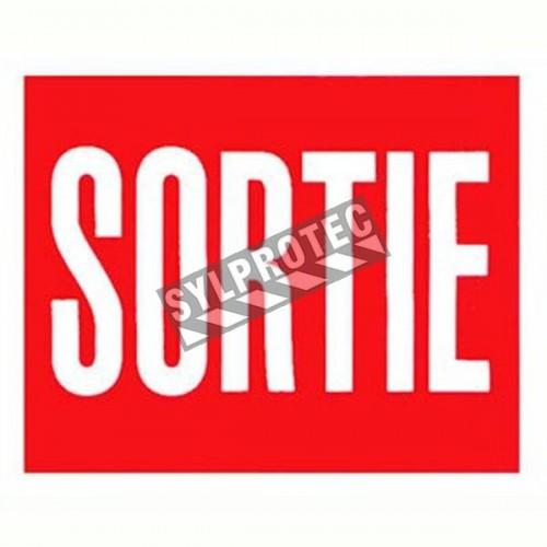 Affiche française d'urgence et d'incendie «Sortie» en vinyle autocollant