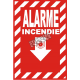 """French emergency """"Fire Alarm"""" sign in various sizes, shapes, materials & languages + optional features"""